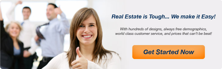 Custom real estate flyers and postcards. Get started now!